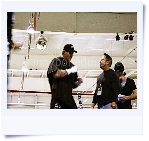 Jose warming up in the ring